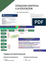 La Investigacion Cientifica en La Educacion