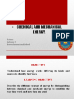 Chemical and Mechanical Energy