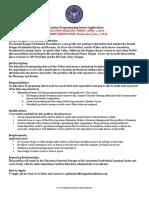 education programming intern application