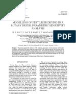 Modelling of Fertilizer Drying in A