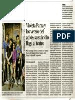 Violeta Parra y las imágenes del adios