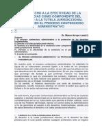 El Derecho a La Efectividad de La Sentencias Como Componente Del Derecho a La Tutela Jurisdiccional Efectiva en El Proceso Contencioso Administrativo