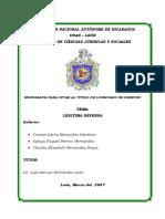 Legitima Defensa en Nicaragua
