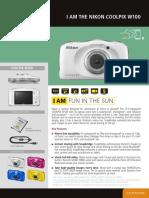 Nikon Leaflet Coolpix w100 en--Original