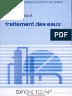 Traitement Des Eaux - Fran_ois Bern_, Jean Cordonnier