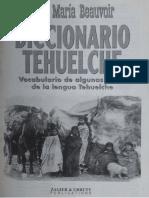 Diccionario Tehuelche - José María Beauvoir