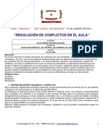 Resolucion de Conflictos en El Aula