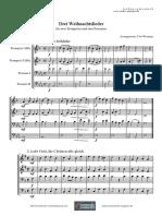 Feine Noten-Weihnachtslieder_a4_bl Trompete Posaune