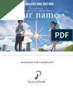 Lanzamiento Your Name