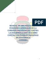 Manual de Organización y Funciones CODISRA