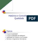 Historico e Conceito de Qualidade