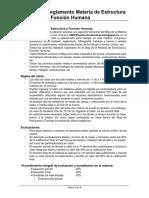 Reglamento Estructura y Función Humana