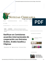 07-09-17 Ratifican en Comisiones acuerdos internacionales de cooperación con Emiratos Árabes, Arabia Saudita y Filipinas - Noticias Chihuahua