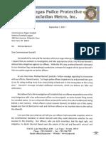 Michael Bennett letter from police union