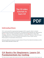 Top 10 Video Tutorials to Learn C#