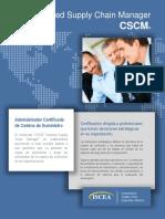 Flyer_cscm Certificado Gerencia Cadena de Suministro