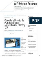 Circuito y Diseño de PCB Fuente de Alimentación DC 5V y 12V _ Enlaces Eléctricos de Ingeniería