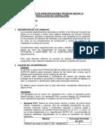 Especificacion Tecnica de Zapatas Concreto 210 (Costos)