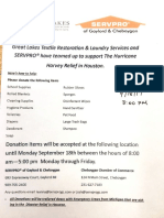 Donations to Texas flier