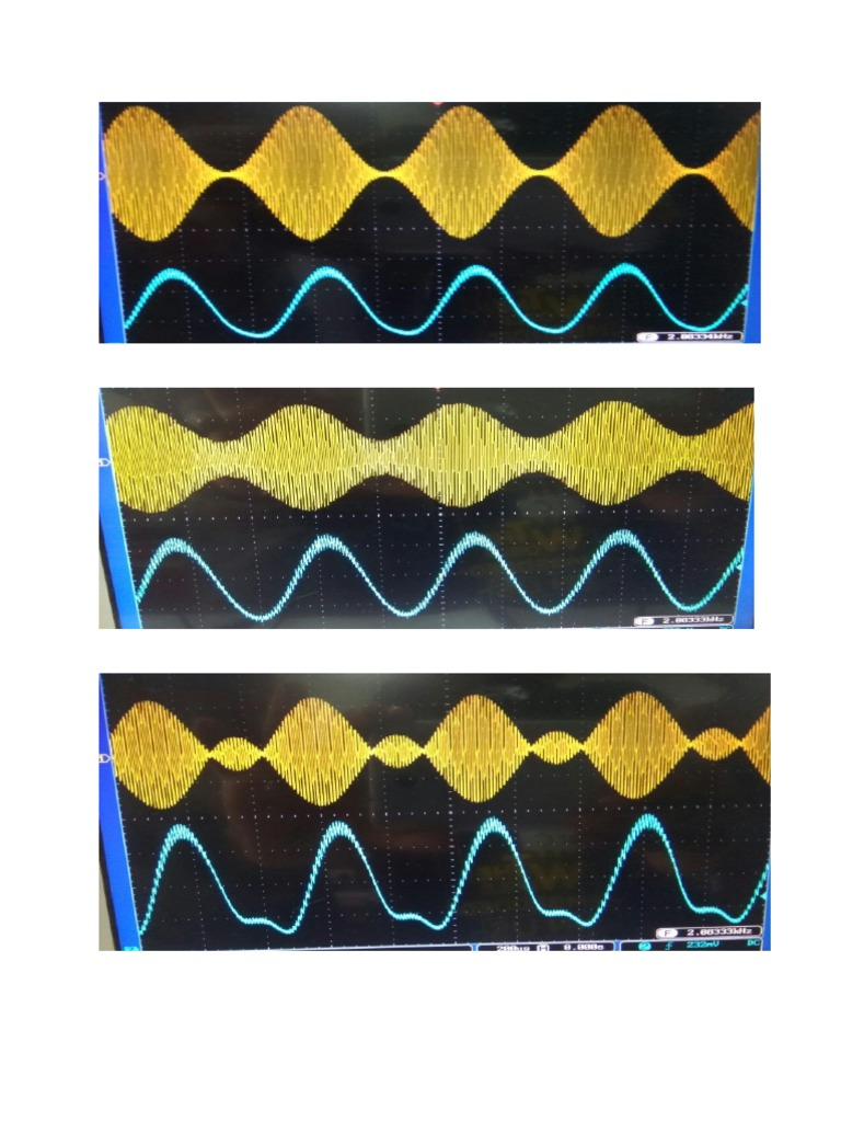 Amplitude Modulation And Demodulation Diagrams Of Dso