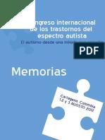 Memorias Del v Congreso Internacional de Trastornos Del Espectro Autista