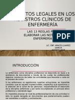 aspectoslegalesenlosregistrosclnicosdeenfermera-170825111610
