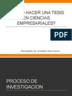 Cómo Hacer Una Tesis en Ciencias Empresariales