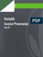 HLF Herbalife  Investor Presentation May 2017