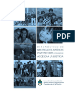 Diagnostico de Necesidades Juridicas Insatisfechas. Informe Final Uba. 5 Dic. 2016