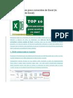 10 Herramientas Poco Conocidas de Excel