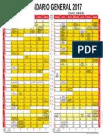 Calendario Rectoría 2017