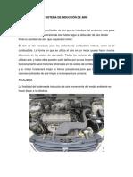 Sistema de Inducción de Aire (Autoguardado)