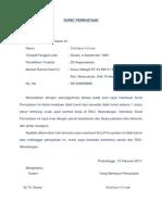 Surat Pernyataan Tidak Hamil
