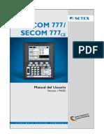 Manual setex 777/777 CE