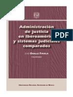 Administración de justicia en Iberoamérica y sistemas judiciales comparados