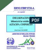 Cuaderno Firp s732a - Emulsionacion - Influencia de Las Variables de Agitacion y Composicion