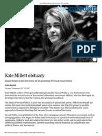 Kate Millett Obituary