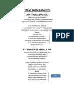 Letras Barra Para Civil