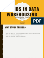Trends in Data Warehousing