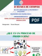 Establecimiento de Los Procesos de Producción