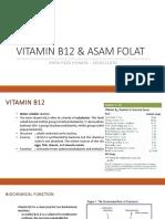Vitamin b12 & Asam Folat