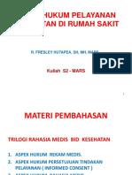 Aspek hukum Pelayanan Kesehatan  - Copy.ppt