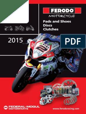 Road Passion Plaquette de frein avant pour APRILIA Tuono V4R 2011-2012//SL 1000 Falco 2000-2005