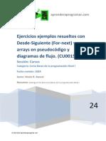 CU00154A Ejemplos Diagramas de Flujo for Next y Arrays Pseudocodigo