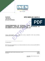 NTE IEC 600.003