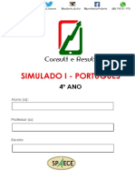 Simulado I - Port - 4º Ano - ( Blog Do Prof. Adonis)