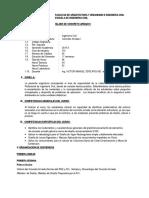 Silabo Concreto Armado I- 2015-II