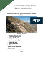 Informe Del Perfil de Huncarani Final