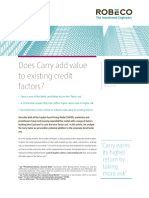 Does Carry Add Value to Existing Credit Factors