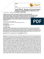 Trivedi Effect - Evaluation of the Trivedi Effect®- Energy of Consciousness Energy Healing Treatment on the Physical, Spectral, and Thermal Properties of Zinc Chloride